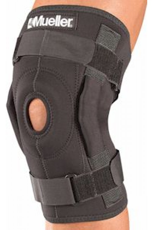 Mueller #3333 Hinged Wraparound Knee Brace - Black - FREE USA SHIPPING