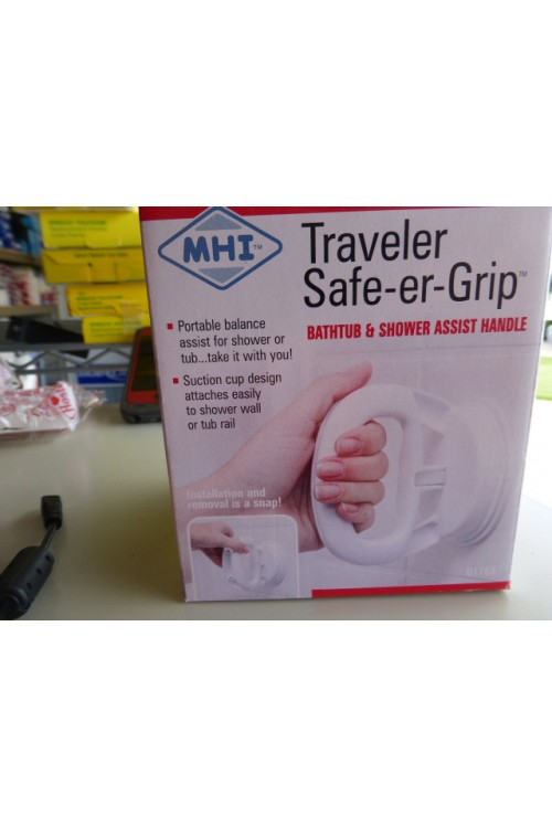 TRAVELER SAFE-ER-GRIP BATHTUB AND SHOWER ASSIST HANDLE - FREE SHIPPING