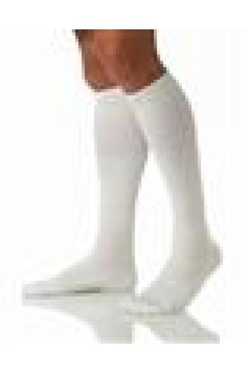 Jobst Athletic 8-15 mmHg Knee Length Compression Unisex Socks - White