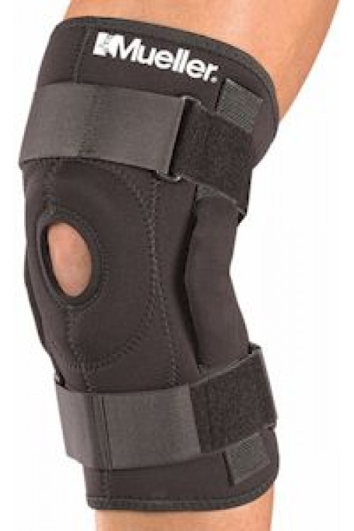 Mueller #2333 Hinged Knee Brace - Black - FREE USA SHIPPING